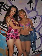 Nikki posing with a street prostitute
