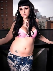 Sweet Bailey Jay posing her hot amazing body