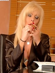 Cigar, Suit, Stockings and Cock