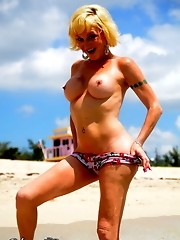 Lovely TS Olivia Love posing at the beach