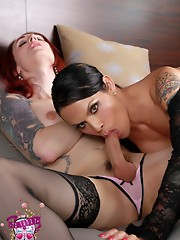 Naughty Foxxy going dirty with TS Brittany