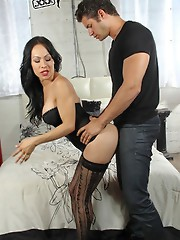 Here's a fantastic scene with the beautiful Celeste and new male model Giovanni. They had really great sexual chemistry in this scene and it show