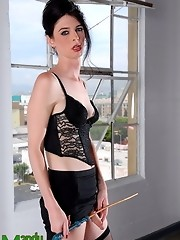 Hardcore transsexual Mandy as a mistress