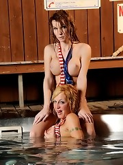 Two smoking hot transsexuals teasing